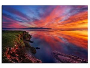 tableau design magnifique coucher de soleil
